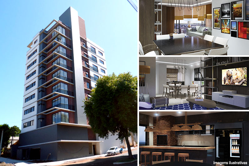 Apartamento 2 quartos Residencial Dublin, bairro Presidente Médici – R$ 464.000,00